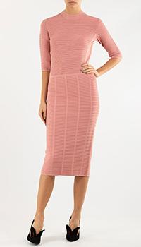 Трикотажное платье Emporio Armani розового цвета, фото