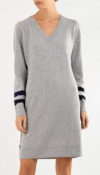 Трикотажное платье Bogner серого цвета, фото