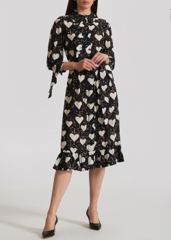 Платье-рубашка Elisabetta Franchi черного цвета, фото