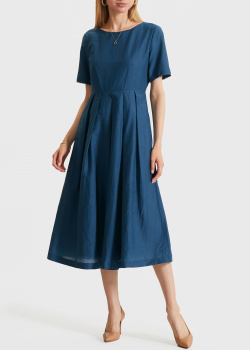 Платье с коротким рукавом Max Mara Weekend из хлопка и льна, фото