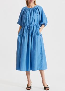 Синее платье Max Mara Weekend с пышными рукавами, фото