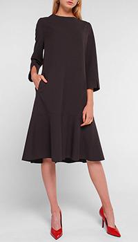 Черное платье Luisa Cerano с разрезами на рукавах, фото