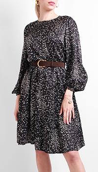 Черное платье Luisa Cerano с пышной юбкой, фото