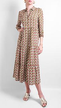 Платье-миди Luisa Cerano с растительным узором, фото