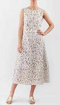 Платье-миди Luisa Cerano с аппликацией, фото