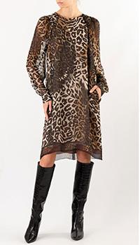 Шелковое платье Luisa Cerano с леопардовым принтом, фото