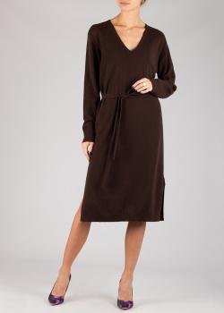 Кашемировое трикотажное платье Luisa Cerano коричневого цвета, фото