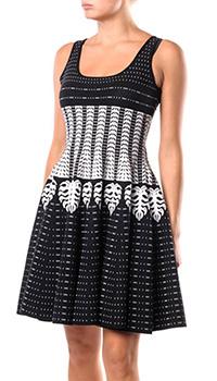 Черное платье Dsquared2 с принтом, фото