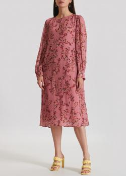 Розовое платье Luisa Cerano с цветочным принтом, фото