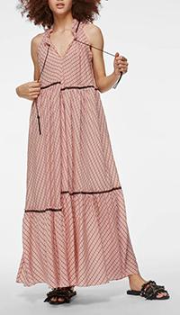 Длинное платье Dorothee Schumacher розового цвета, фото