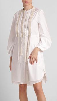 Белое платье Dorothee Schumacher с вышивкой, фото