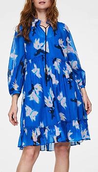 Синее платье Dorothee Schumacher с принтом, фото