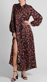 Шелковое платье Dorothee Schumacher с разрезом, фото