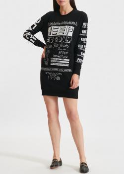 Трикотажное платье Kenzo с надписями, фото