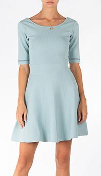 Трикотажное платье Patrizia Pepe голубого цвета, фото