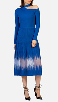 Трикотажное платье Patrizia Pepe синего цвета, фото
