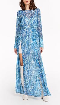 Голубое платье Patrizia Pepe с пышной юбкой, фото