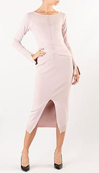 Розовое платье Patrizia Pepe с разрезом спереди, фото