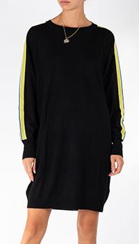 Шерстяное платье Patrizia Pepe черного цвета, фото