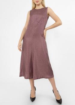 Шелковое платье Max Mara с геометрическим узором, фото