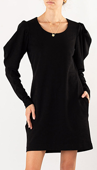 Черное платье Dorothee Schumacher с пышными рукавами, фото