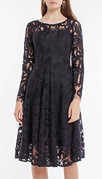 Кружевное платье Riani темно-синего цвета, фото