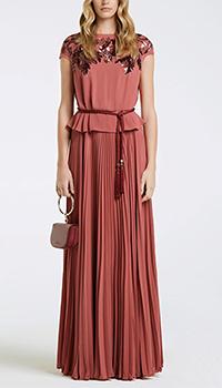 Длинное платье Elisabetta Franchi с поясом, фото