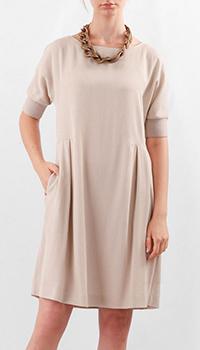 Платье Fabiana Filippi бежевого цвета, фото