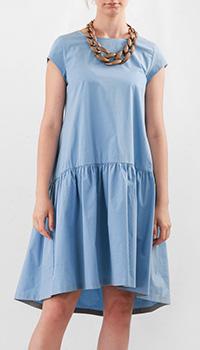 Голубое платье Fabiana Filippi с пышной юбкой, фото