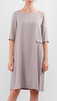 Серое платье Fabiana Filippi свободного кроя, фото