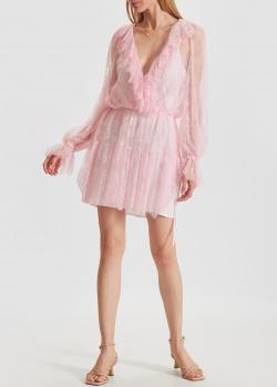 Кружевное платье Ermanno Scervino розового цвета, фото