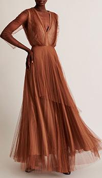 Длинное платье Fabiana Filippi с пышной многослойной юбкой, фото