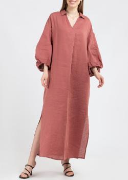 Льняное платье Fabiana Filippi с V-образным вырезом, фото