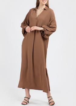 Коричневое платье Fabiana Filippi с пышными рукавами, фото