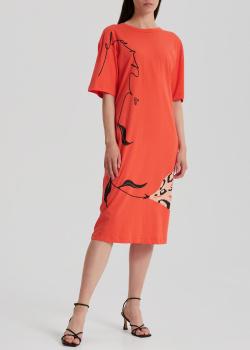 Коралловое платье Marni с завязками на спине, фото