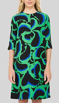 Зеленое платье Marni с рукавом три четверти, фото