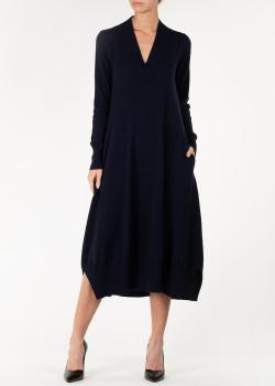 Кашемировое платье Agnona темно-синего цвета, фото