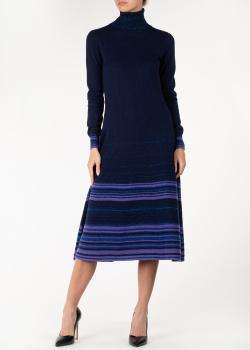 Трикотажное платье Agnona с контрастными полосами, фото