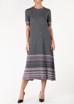 Кашемировое платье Agnona с коротким рукавом, фото