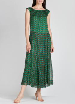 Шелковое платье Aspesi с орнаментом, фото