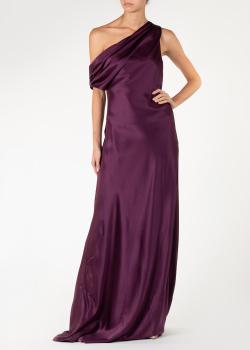 Шелковое платье Cushnie et Ochs с открытым плечом, фото
