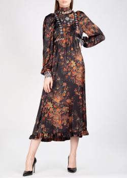 Черное платье Paco Rabanne с вышивкой, фото
