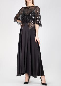 Шелковое платье Paco Rabanne с горжеткой, фото