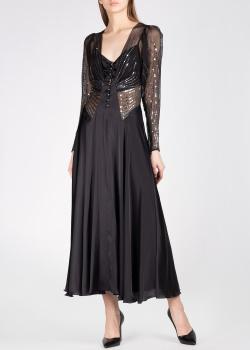 Длинное платье Paco Rabanne с вышивкой пайетками, фото