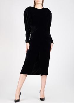 Бархатное платье Isabel Marant с подплечниками, фото