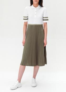 Двухцветное платье Bogner с воротником на пуговицах, фото