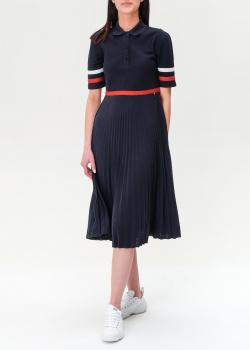 Синее платье Bogner с контрастными вставками, фото