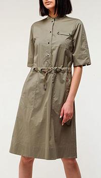 Платье-рубашка Bogner цвета хаки, фото