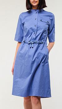 Синее платье Bogner с накладным карманом, фото