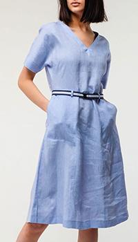 Льняное платье Bogner с поясом, фото